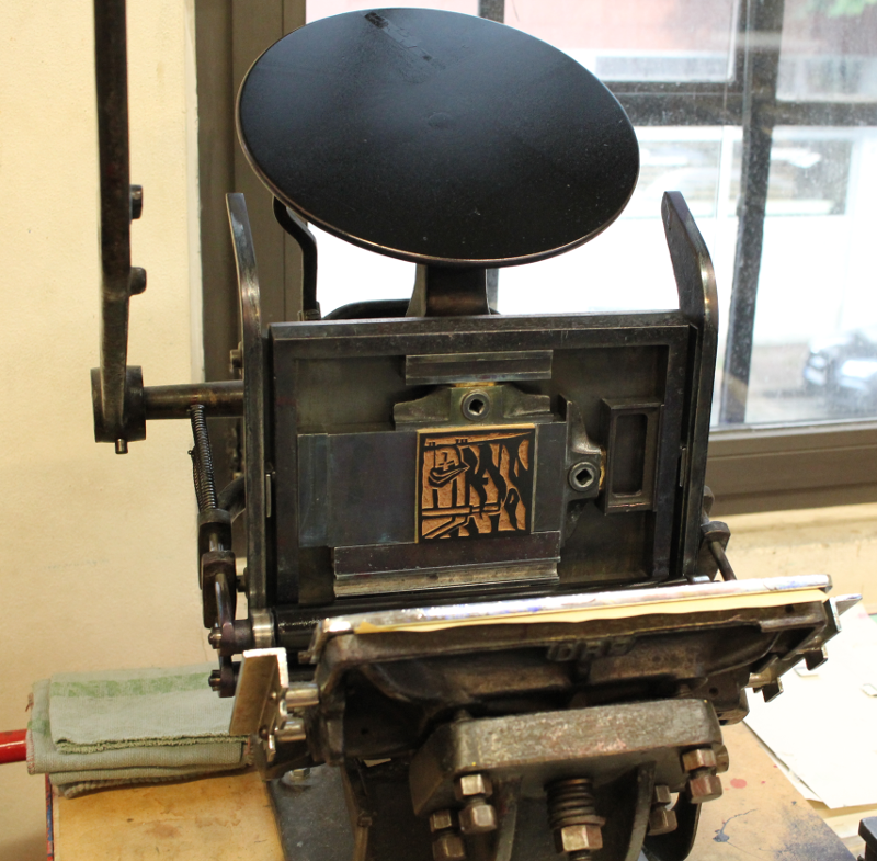 Lino side in the printing press