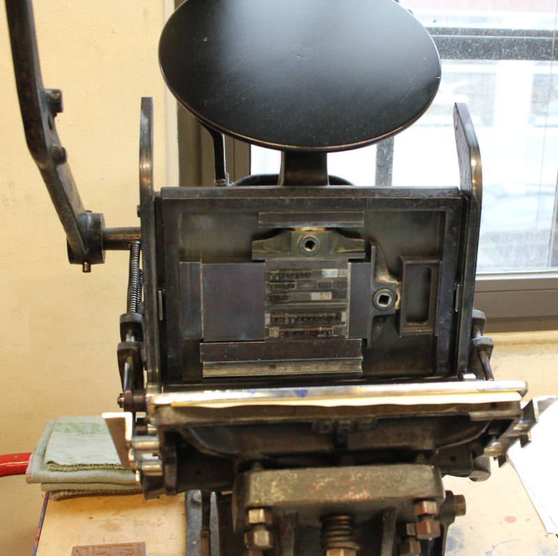 Front side in the printing press
